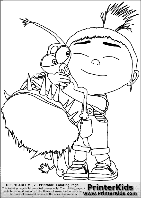 Agnes colouring pages for Despicable me 2 coloring pages