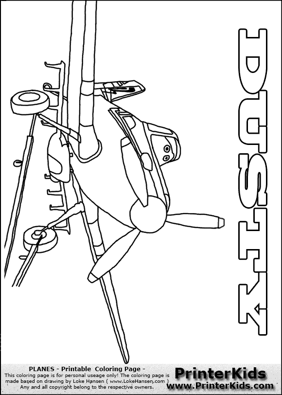 Dusty Planes Free Colouring Pages